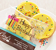 Cheryls 24 Buttercream Frosted Birthday Cake C ookies - M114429