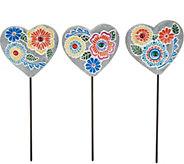 Plow & Hearth Set of 3 Mosaic Stones - M55529