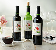 Vintage Wine Estates In Bloom Artist Series 3 Bottle Wine Set - M58029