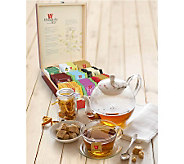 Wissotzky Tea Imperial Mahogany Tea Chest w/ 90Assorted Teas - M112930