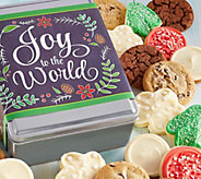 Ships 11/1 Cheryls Joy to the World Holiday Tin - 16 Cookies - M115930