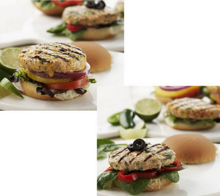 Graham &Rollins (10) 3.5 oz. Salmon Burgers in Choice of Flavors
