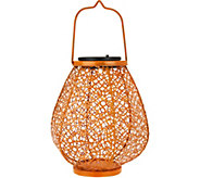 LED Solar Filigree Hanging Lantern by Evergreen - M52131