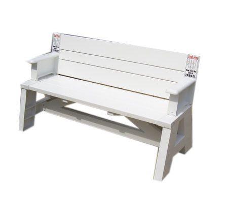 Convert a bench lightweight convertible bench table Convertible bench