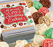 Ships 11/1 Cheryls Love and Cookies Holiday Tin - 16 Cookies - M115932