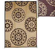 Medallion Design 8 x 11 Outdoor Mat by PatioMats - M49232