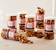 Hampton Popcorn Set of 6 Large Holiday Popcorn Tubes - M49932