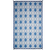 Barbara King 5x8 Cane Reversible Outdoor Mat by PatioMats - M51732