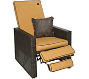 Bliss Hammocks Indoor/Outdoor Euphoria Wicker Recliner with Throw Pillow - M52532