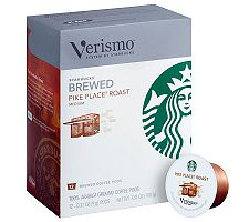 Starbucks Verismo Pike Place Roast Coffee Pods- 72-Pack