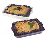 St. Clair (2) 2 lb. Trays Southern Style Blueberry Bread Pudding - M25233