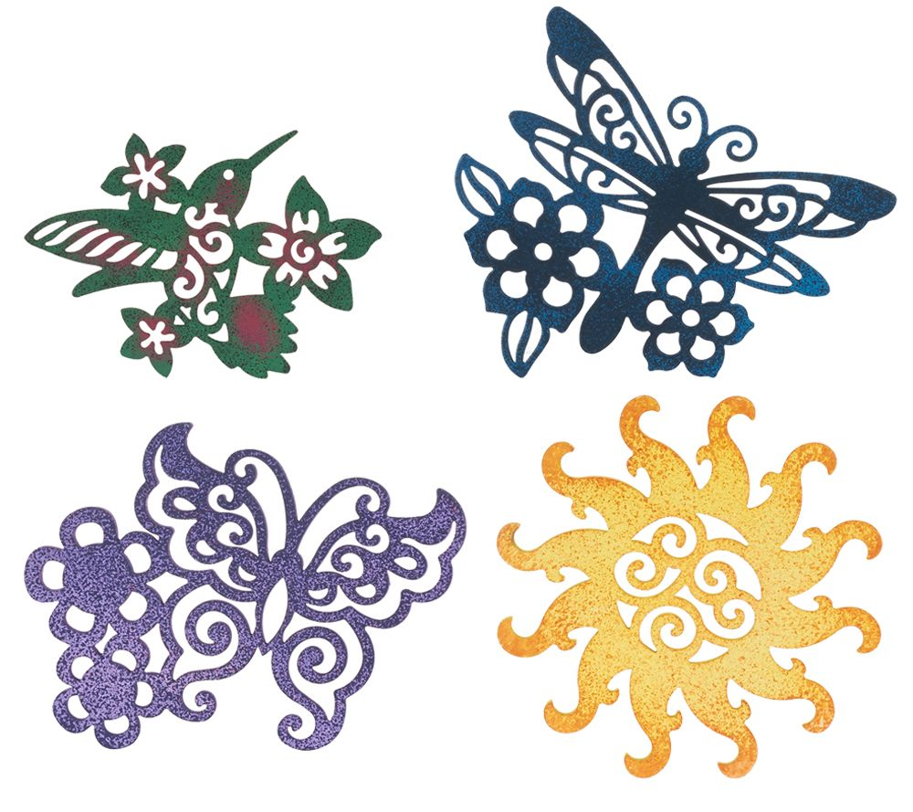 Set Of 4 Whimsical Patio Door Screen Savers By Evergreen Page 1 Qvc
