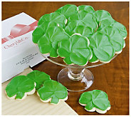 Cheryls 36 pc. Buttercream Frosted Shamrock Cut-out Cookies - M108034