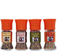 Rachael Ray Set of 4 Seasoning & Sea Salt Grinders - M28734