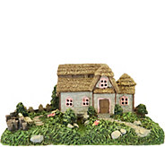 Plow & Hearth Solar Fairy Cottage Scene - M52334
