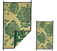 Barbara King Floral 5x8 Reversible Outdoor Mat w/Matching 3x5 - M49435