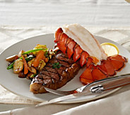 Kansas City (4) 10 oz. Strip Steaks & (4) 5 oz. Lobster Tails - M49735