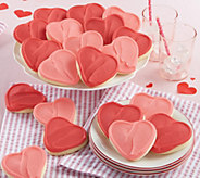 Cheryls 24 Valentine Frosted Heart-Shaped Cutout Cookies - M115136