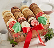Cheryls 36 Count Holiday Plaid Cookie Tray - M115936