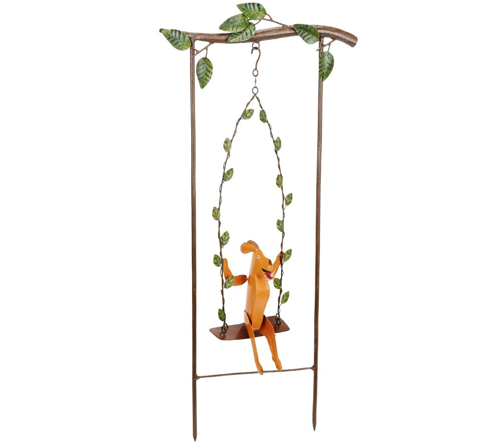 Plow & Hearth Swinging Animal Garden Stake