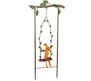 Plow & Hearth Swinging Animal Garden Stake - M44436