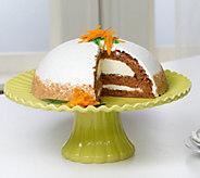 Sweet Endings 4 lb. 12 oz. Raspberry White Choc. or Carrot Bombe Cake - M47236