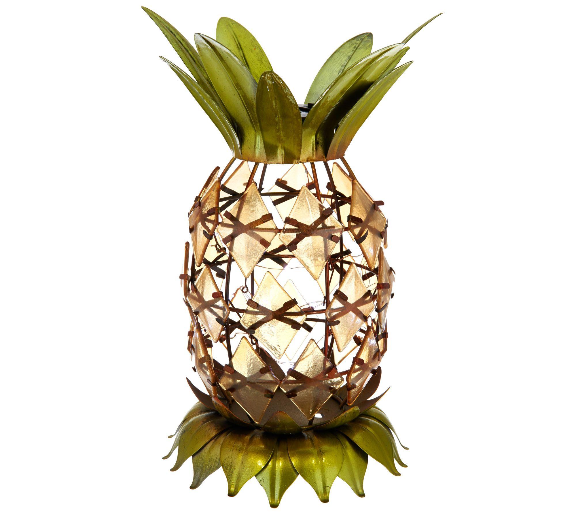 Decorative Solar Pineapple Lantern   Page 1 U2014 QVC.com