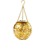 Solar LED Cutout Design Hanging Lantern by Evergreen - M52137