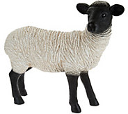 Plow & Hearth Resin Suffolk Sheep Garden Statue - M52337