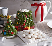 Too Good Gourmet Holiday Cookie Jar with 1 lb. of Tea Cookies - M53437