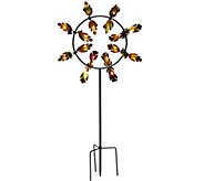 Plow & Hearth 5 Fall Leaves Jubilee Wind Spinner - M54437