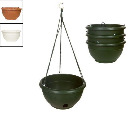Set Of 4 Indoor Outdoor Self Watering Hanging Planters
