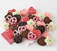 Cheryls 24 Valentine Cutout Cookies and 12 Gourmet Pretzels - M115138
