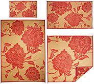 Barbara King Floral Dance Reversible Outdoor Mat w/ Matching 3x5Mat - M49438