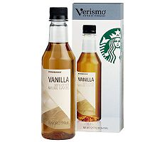 Starbucks Verismo Vanilla Syrup Bottle with Pump - 6 Bottles