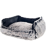 PETMAKER Faux Fur Dog Bed Medium - M115739