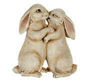 Plow & Hearth Polyresin Snuggle Bunnies Garden Statue - M42939