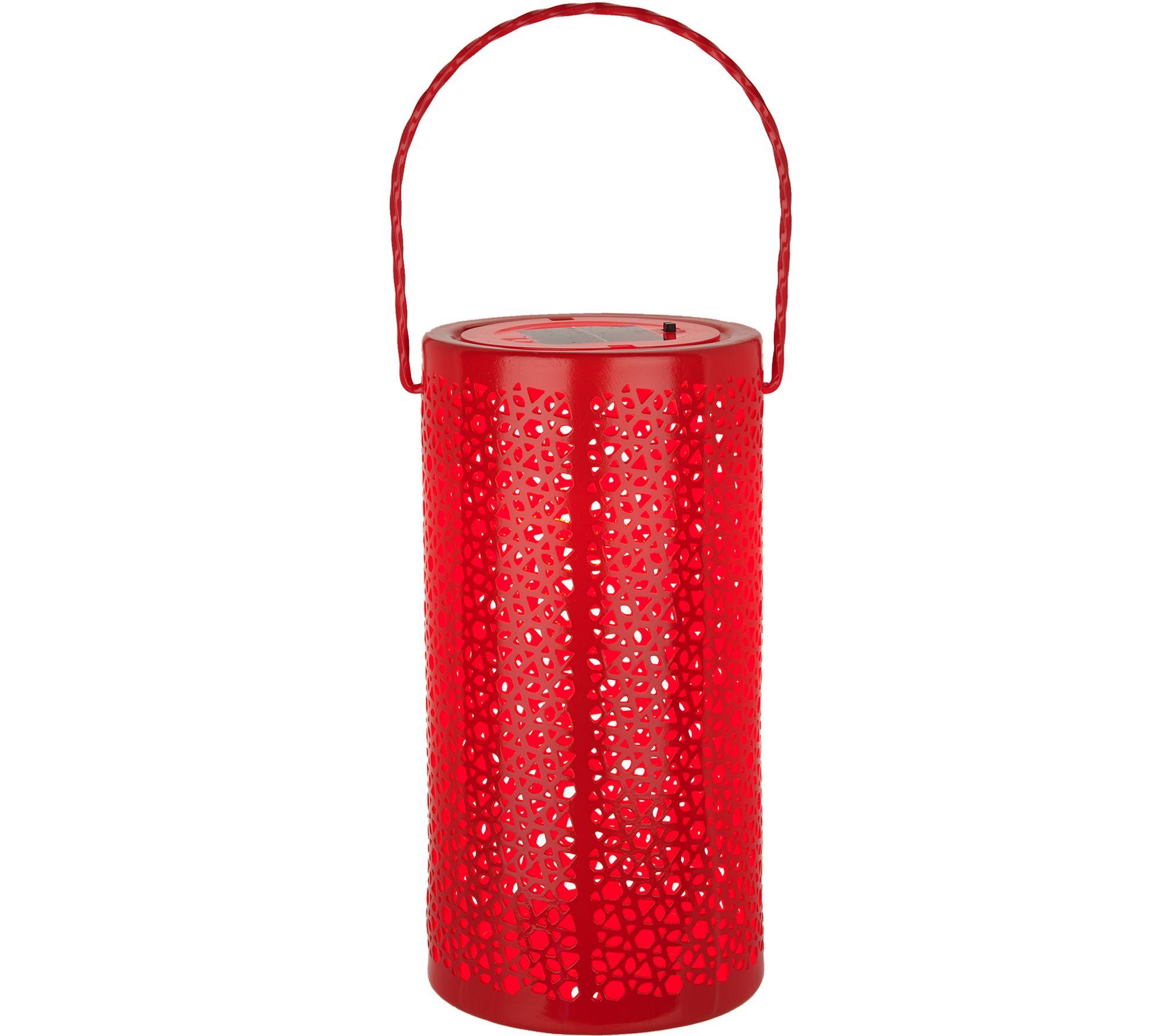Small solar lights for crafts - Plow Hearth Solar Ceramic Hanging Lantern M52339
