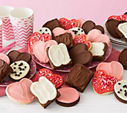 Cheryls 24 Valentine Frosted Cookies and 8 Fro sted Brownies - M115140