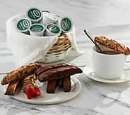 Nonnis 32-pc Biscotti w/36 Italian Roast Single Serve Coffees - M56340