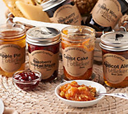 Potlicker Kitchen Set of 6 Gourmet Jams with Recipes - M52041