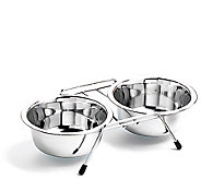 Stainless Steel Double Diner Boxed 1-qt Dog Bowl - M109242
