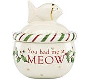 Lenox Holiday Cat Treat Jar - M115842