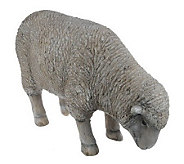 Plow & Hearth All-Weather Resin Sheep Garden Statue - M29342