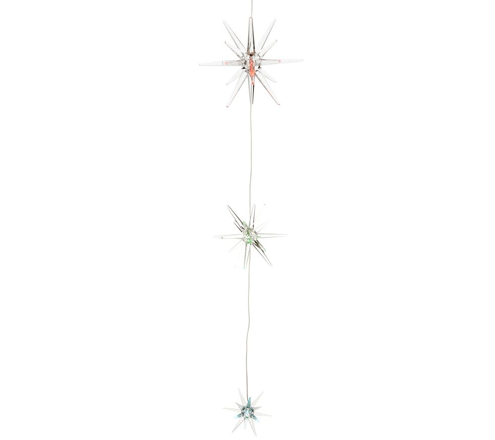 Color Changing Solar Starburst Mobile or String Light by Exhart QVC.com