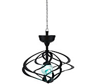 Compass Home Solar Hanging Double Wind Spinner w/ Color Light - M45943
