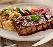 Bubbas Q (6) 10 oz. Deboned Baby Back Rib Steaks in Sauce - M48543