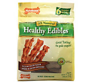 Healthy Edibles Bacon Regular - 6 Pack Dog Treats - M109444