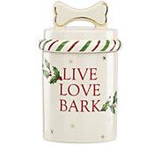 Lenox Holiday Dog Treat Jar - M115844