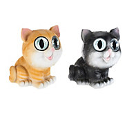 Set of 2 Bright Eyed Solar Spotlight Animals by Smart Solar - M43444